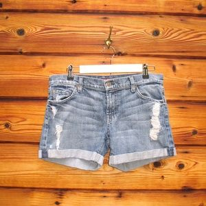 7 for All Mankind Distressed Jean Shorts